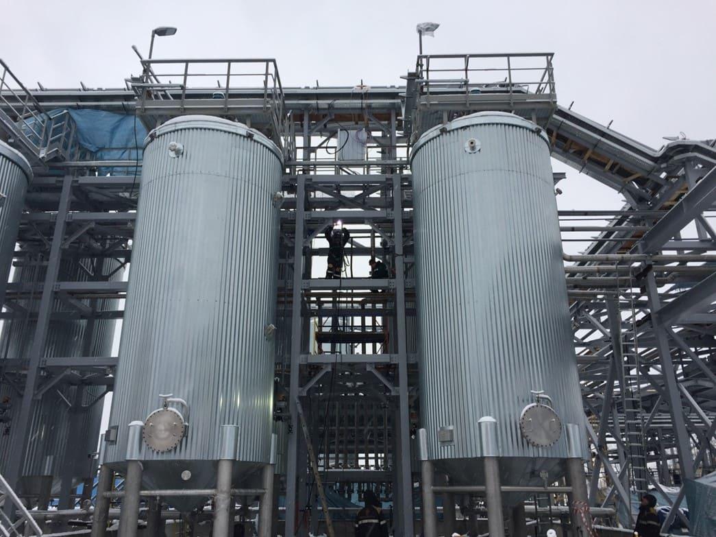 Склад смол и рецикловых вод